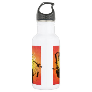 Relax Red Orange Adirondack Chair Summer Beach The Stainless Steel Water Bottle