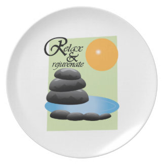Relax Rejuvenate Party Plate