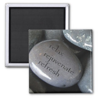 relax rejuvenate refresh 2 inch square magnet