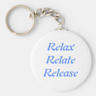 Relax Relate Release Key Chains