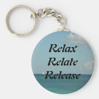 Relax Relate Release Key Chain