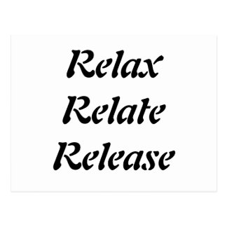 Relax Relate Release Post Cards