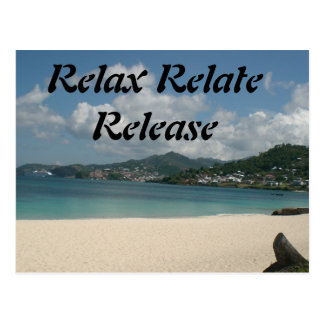 Relax, Relate, Release, Postcard