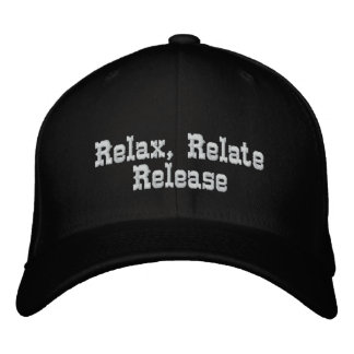 Relax, Relate, Relelse_ Embroidered Hat