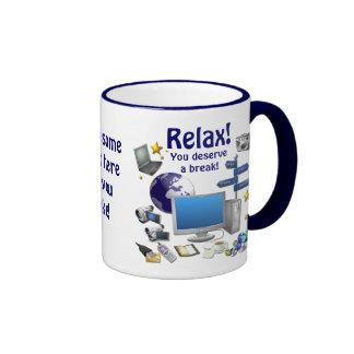 RELAX! ~ Ringer Coffee Mug