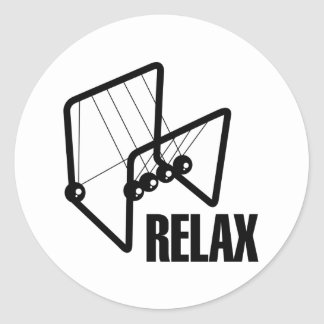 Relax Round Stickers