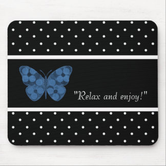 RELAX-SELF-EXPRESSION--TEMPLATE-BUTTERFLY-PATCH MOUSE PAD