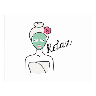 Relax Spa Beauty Postcard