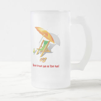 Relax Summertime Holiday Lounger Frosted Beer Mug