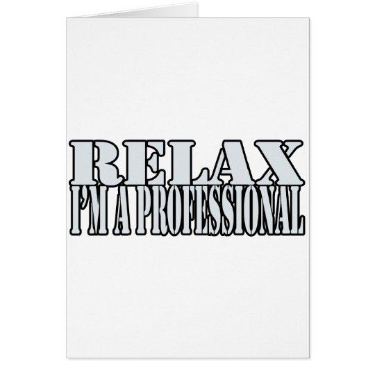 Relax t-shirt card