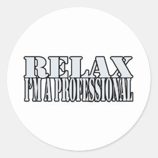 Relax t-shirt classic round sticker