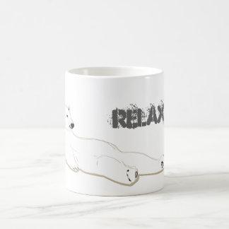 relax take it easy polar bear classic white coffee mug