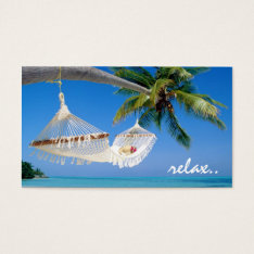 Relax Travel Business Card at Zazzle