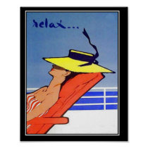 Relax Travel Vintage poster