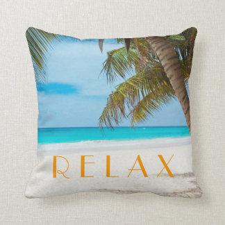 Relax Tropical Beach Pillow