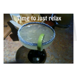RELAX=TURNING 40 HUMOR GREETING CARD