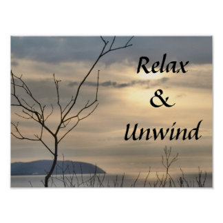 Relax & Unwind Poster