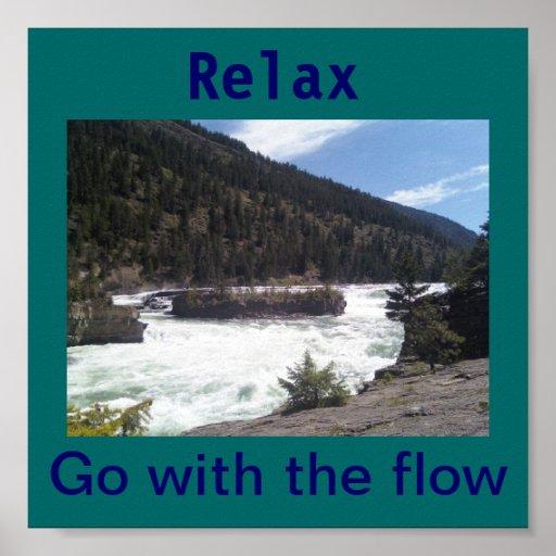 Relax va con el flujo impresiones