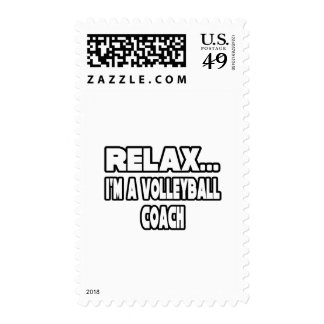 Relax...Volleyball Coach Stamps