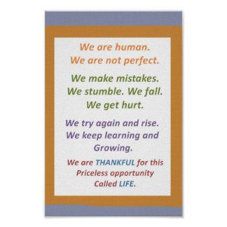 RELAX  : We are HUMAN, not perfect but STRIVE for Print