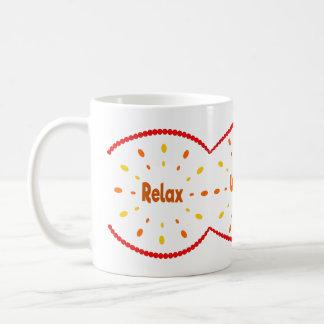 Relax, wind, lounge orange and red coffee mug