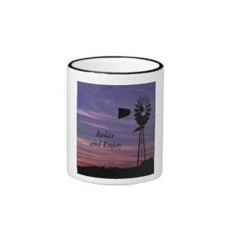 Relax with Windmill in Wine Country Mug