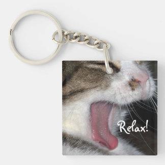 Relax_Yawning Cat Keychain