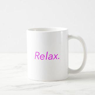 Relax. Yellow Green Pink Coffee Mug