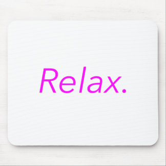 Relax. Yellow Green Pink Mouse Pad