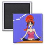 Relax yoga magnet fridge magnet