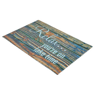 Relax You Are On Lake Time Quote Doormat