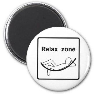 Relax zone sign magnet