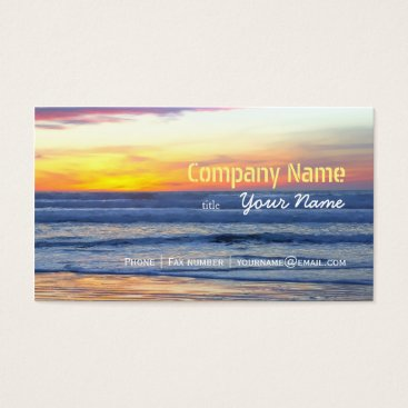 Beach Themed Relaxation Beach Elegant Spa Travel vacation Business Card