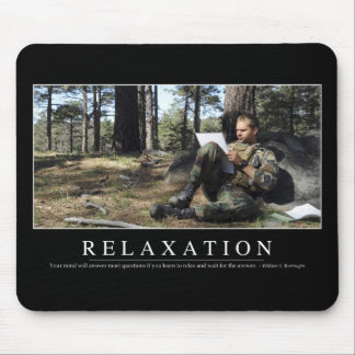 Relaxation: Inspirational Quote Mouse Pad