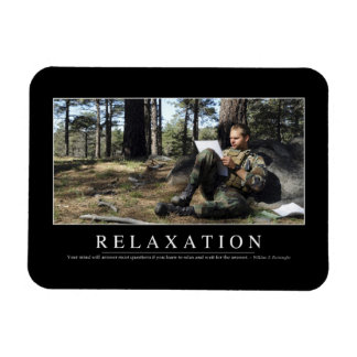 Relaxation: Inspirational Quote Rectangular Photo Magnet