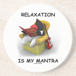 Relaxation Is My Mantra (Java Duke Code) Drink Coasters