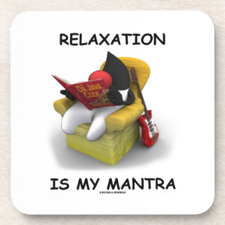 Relaxation Is My Mantra (Java Duke Code) Beverage Coaster