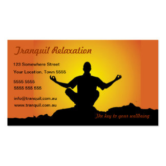 Relaxation/Meditation Business Card