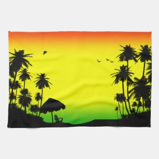 relaxation rasta kitchen towel