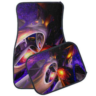Relaxation Theory Abstract Car Floor Mat