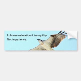 Relaxation tranquility impatience Bumper Sticker