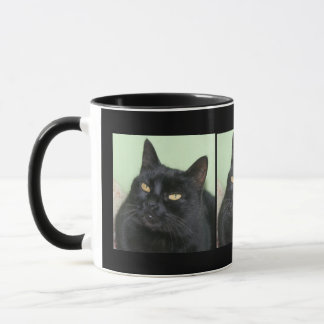 Relaxed Black Cat Portrait Mug