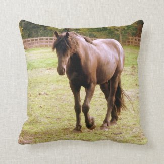 Relaxed Brown Horse Walking Cushion