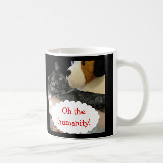 Relaxed Cat Humanity Mug by RoseWrites