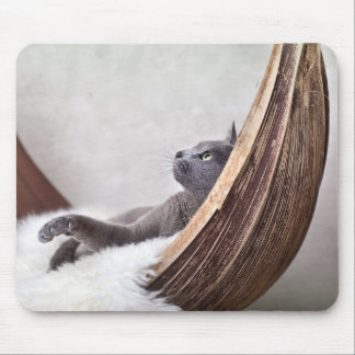Relaxed Cat Mouse Pad