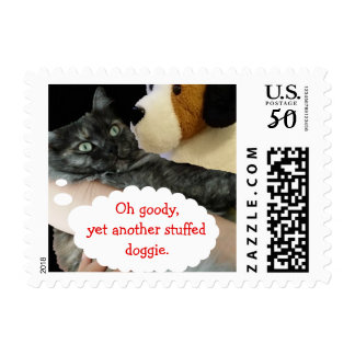 Relaxed Cat Postage Stamp by RoseWrites