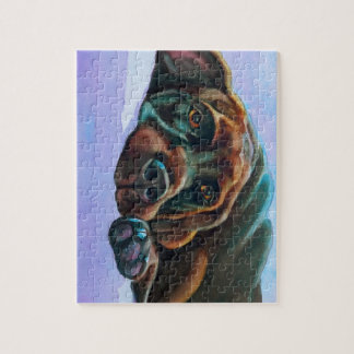 Relaxed Chocolate Lab Dog Jigsaw Puzzle