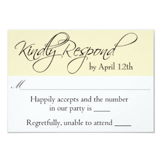 Relaxed Contemporary Wedding RSVP Card