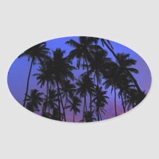 Relaxed design Florida feel Oval Sticker