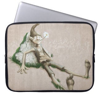 Relaxed elf laptop sleeve